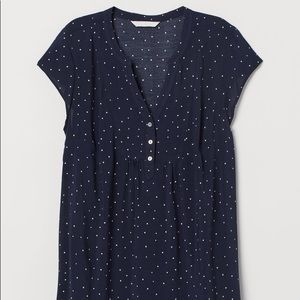 Navy Polka Dot Maternity Top from H&M